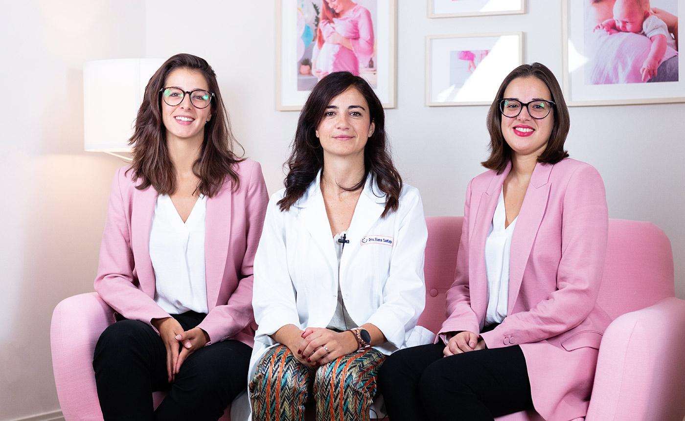 María Vázquez, Dr. Elena Santiago, Cristina Castro