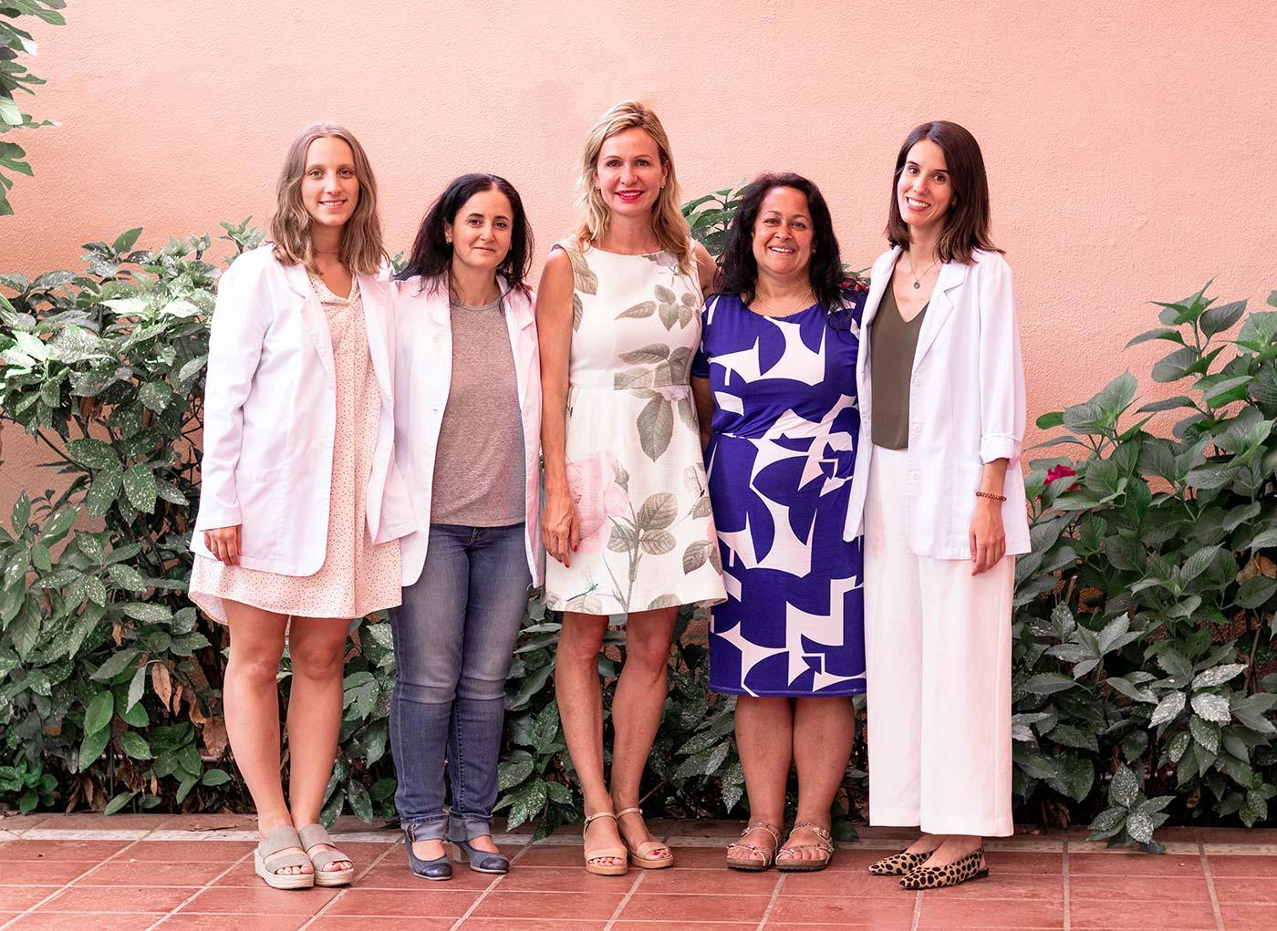 Carolina Andrés, Dra. Susana Cortés, Inge Kormelink, Joyce Harper and Andrea Rodrigo